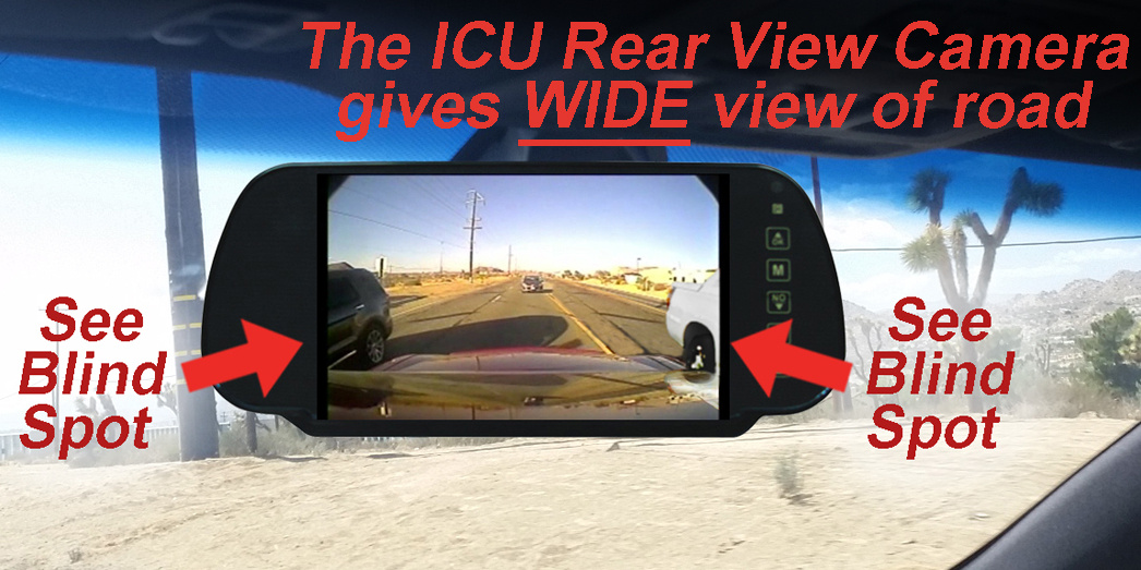 ICU Camera shows your blind spots and improves visibility to help reduce the dangers of driving on roads today.
