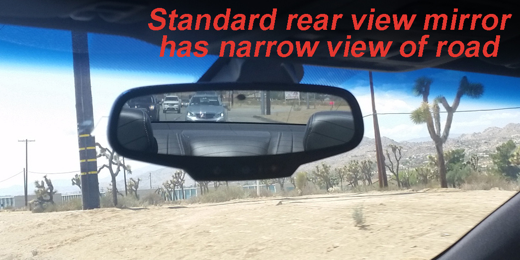 ICU Camera-rear view comparison shows how the ICU Car Cam System shows your blind spots when driving. The ICU improves visibility to help reduce the dangers of driving on roads today.