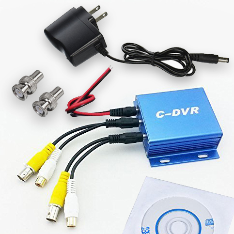 Package Contents DVR for video loop recording to a Micro SD Card from the ICU Car Camera