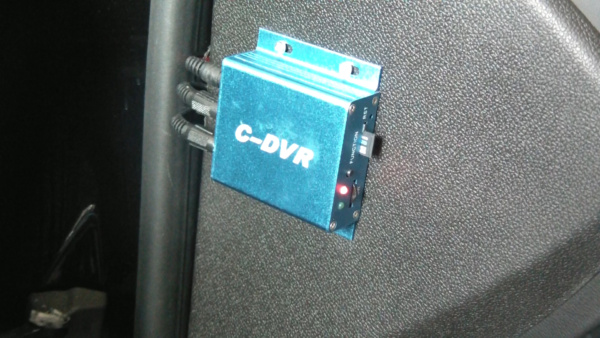 Installed DVR for video loop recording from the ICU Car Camera