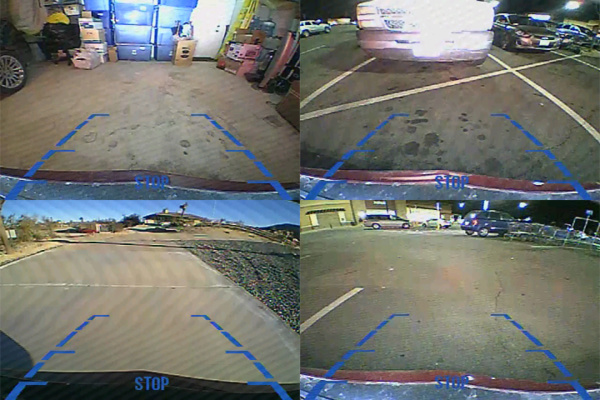 Video monitor view from front or rear backup camera