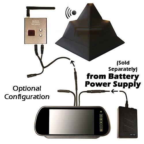 Drone ICU Car Cam System-Optional Battery Power Supply Configuration