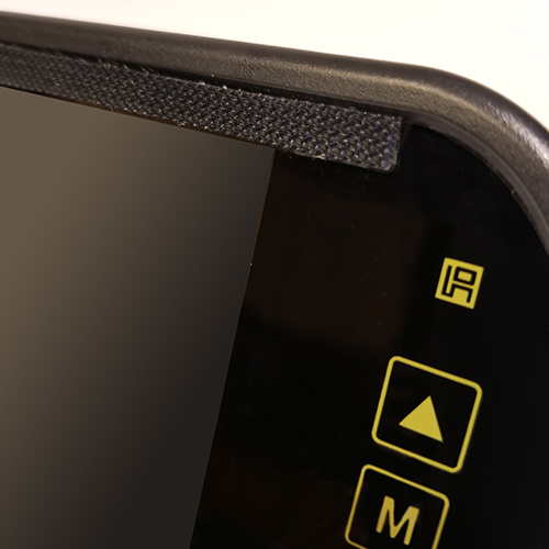 Glare Shield helps cut glare from the sun on bright days. It help also helps to make the video image more clear.