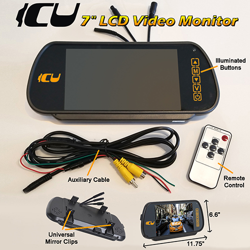 Drone Wireless Icu Car Cam System Solocam. Icu 7 Rear View Video Monitor Includes Lcd Touch Screen 2 Channel Selection. Wiring. Form 500 Drone Wiring Diagram At Scoala.co