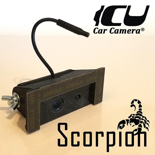 Scorpion ICU Car Camera. Full-time DualCam REAR VIEW Driving Cam to see your blind spots when driving. this is not a backup camera.