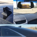 Roof mounted rear view car camera