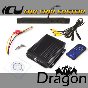 The Dragon ICU Car Cam System has a 3-way dash cam and 4 input DVR