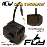 The Fly ICU Car Camera is a mini dash cam with a FRONT (HD Low-light wide-angle vision) camera