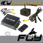 The Fly ICU Car Cam System is a mini dash cam with a FRONT (HD Low-light wide-angle vision) camera, and a DVR
