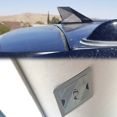 The ICU Trap Door for the ICU Car Camera can be added to your vehicle roof liner right under the ICU Car Camera® to give you ease and fast access to the mounting hardware.
