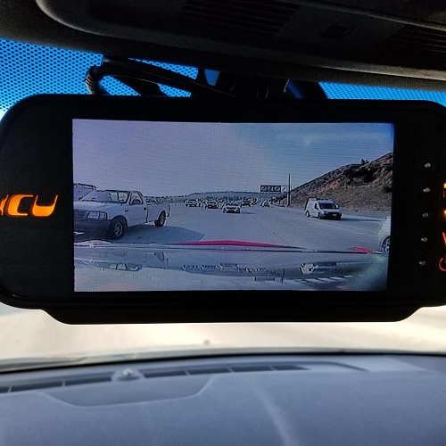 ICU Video Monitor shows the rear view camera view