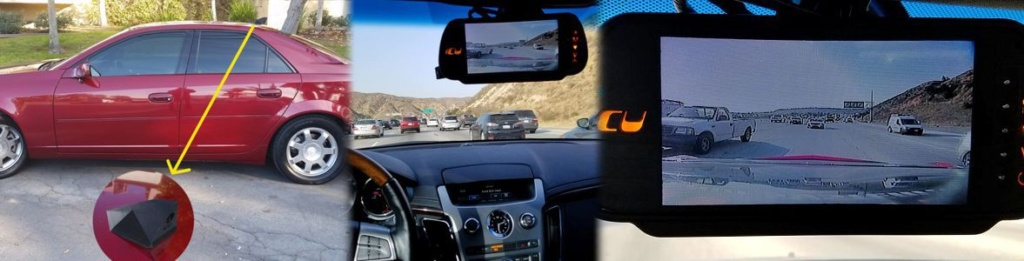 Our ICU Video Monitor shows the rear view from the ICU Car Camera to see your blind spots