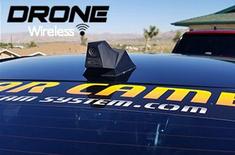 "The Wireless Drone ICU Car Camera is a Full-time REAR VIEW Driving Camera to see behind you and your blind spots when driving. This is not a backup camera. Featuring our ""SoloCam"" wide-angle camera."
