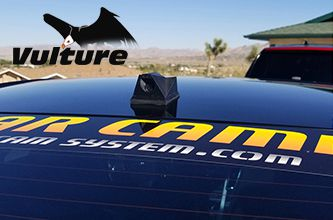 "The Vulture ICU Car Camera is a Full-time REAR VIEW Driving Camera to see behind you and your blind spots when driving. This is not a backup camera. Featuring our ""SoloCam"" wide-angle camera."