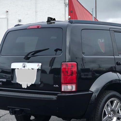 Dodge Nitro with a Blackbird ICU Car Camera rear view camera installed