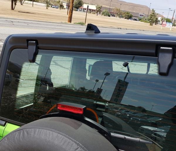 Jeep Wrangler with a Phantom ICU Car Camera rear view camera installed
