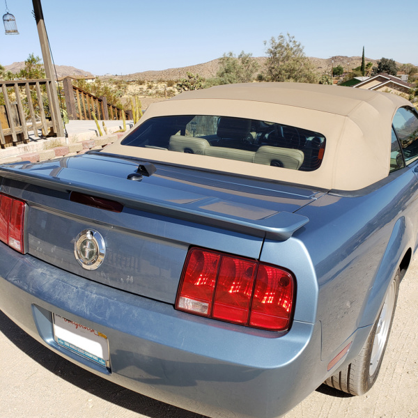 Ford Mustang Convertible with a Phantom ICU Car Camera rear view camera installed