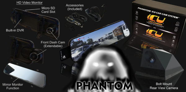 Phantom ICU Car Camera-Bolt Mount Product