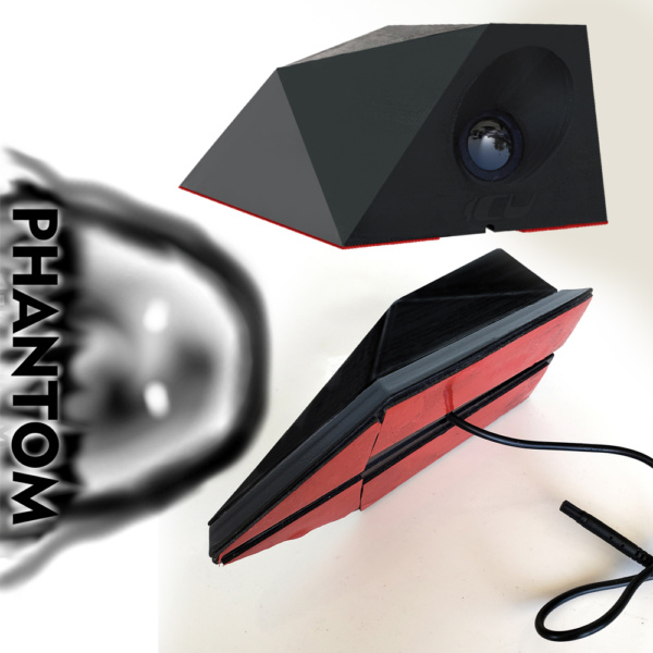 Phantom ICU Car Cam System Sticky Mount is a Full-time REAR VIEW Driving Camera with wide-angle lens for the best view of traffic behind you and in your blind spots