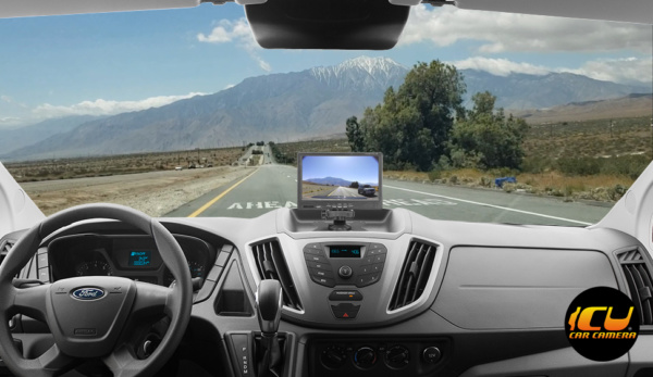 ICU Dash Video Monitor 7 Inch shows your blind spots when driving