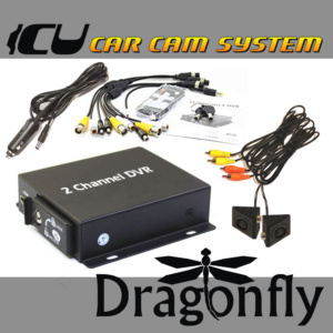The Dragonfly ICU Car Camera Security System with 2 cameras and DVR