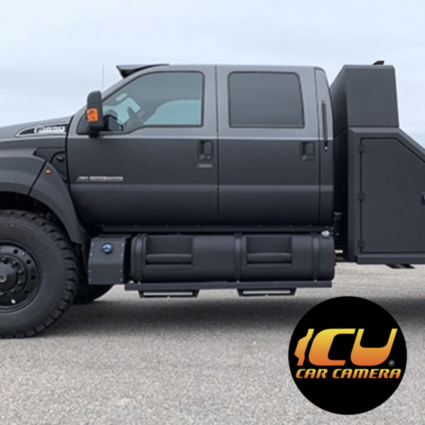 PhantomX ICU Car Camera installed on a Ford 650 Truck mounted on the rear compartment