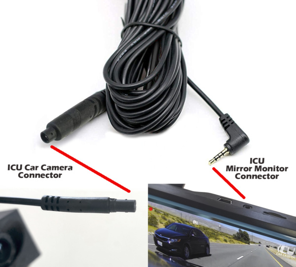 ICU Car Camera Extention Cable for the ICU Mirror Monitor