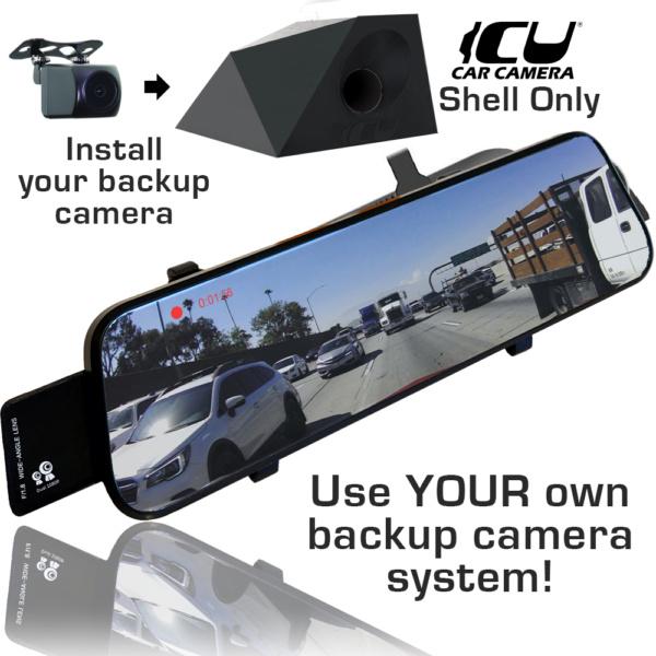 Compatable Streaming Mirror Monitor and AHD Backup Camera for the ICU Car Camera Shells