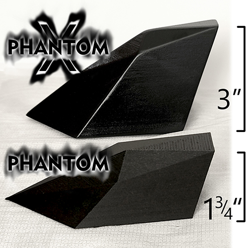 Compare size of the Phantom and PhantomX