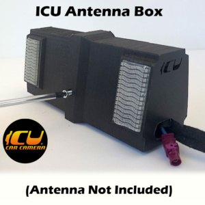 The ICU Antenna Box allows ICU Car Camera customers to replace their factory Shark Fin Satellite/Radio antennas with the ICU Car Camera, and move the antenna to a new location inside the vehicle mounted to the rear window. 3 sizes to choose from.