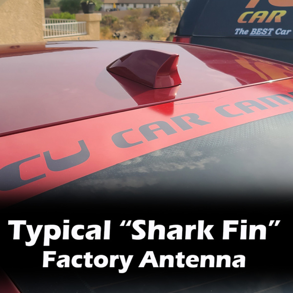 """Typical Large Factory """"Shark Fin"""" Antenna for Satellite and/or Radio Antenna"""